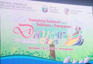Dayaw Festval Pulong Balitaan kasama si Senator Legarda; Manila Arts 2015 tampok ang mga Obrang Sining Biswal at Dayaw Festival masayang ginanap sa Angeles Pampanga
