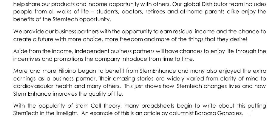 stemtech press release 1
