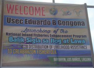 BASIL nang DA BFAR Iniliunsad sa Laguna; Katutubong mga isda pinakawalan ng DA BFAR at DA Sec at Sen Villar nakibahagi sa BASIL