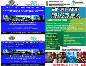 2nd PHILMEX-SWEEPPP WATER AND WASTEWATER TECHNOPRENEURSHIP CONFERENCE @ SMX  CONVENTION  CENTER,  MOA  PASAY  CITY