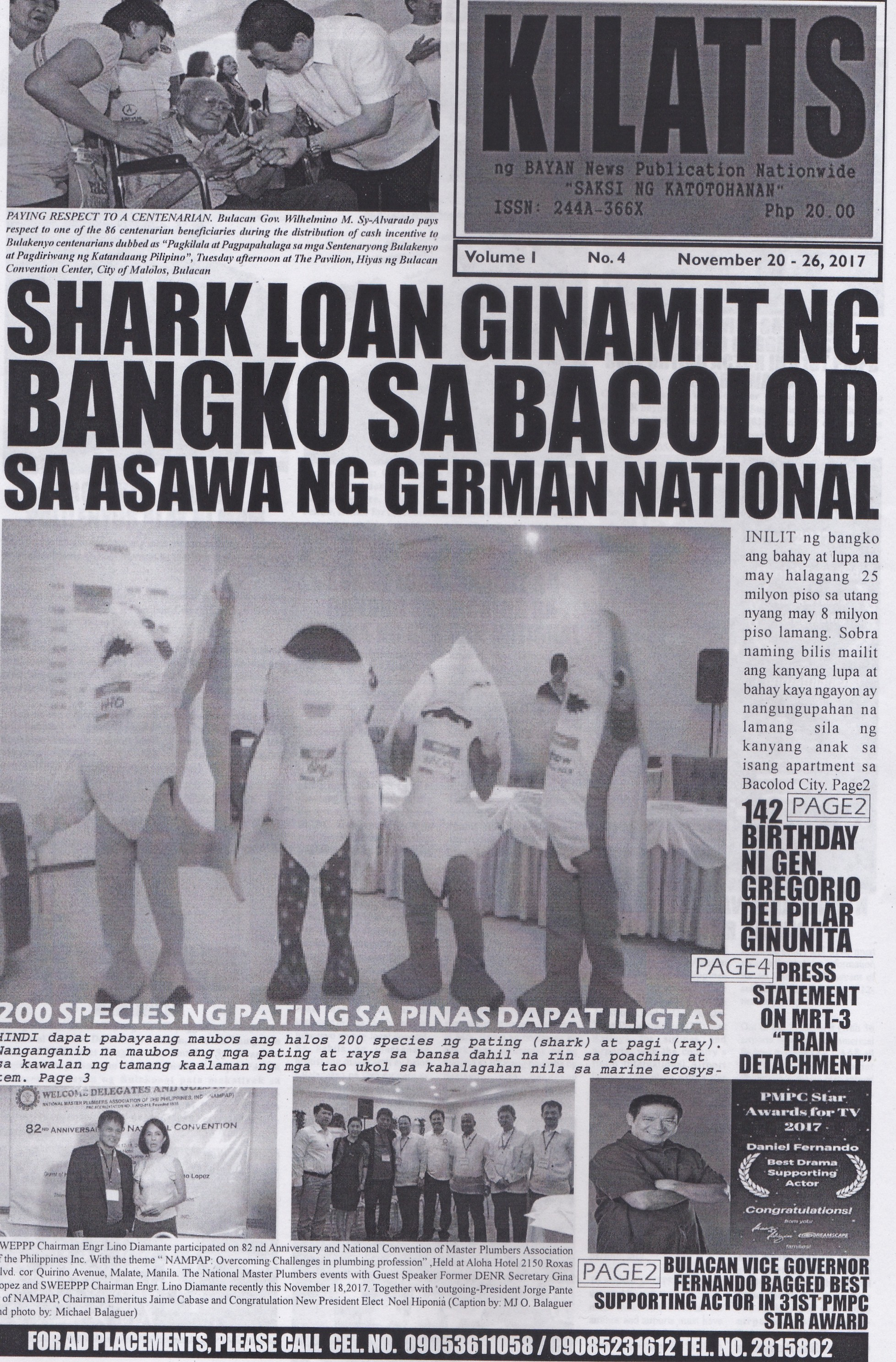 KILATIS ng bayan news publication fourth issue 112011262017