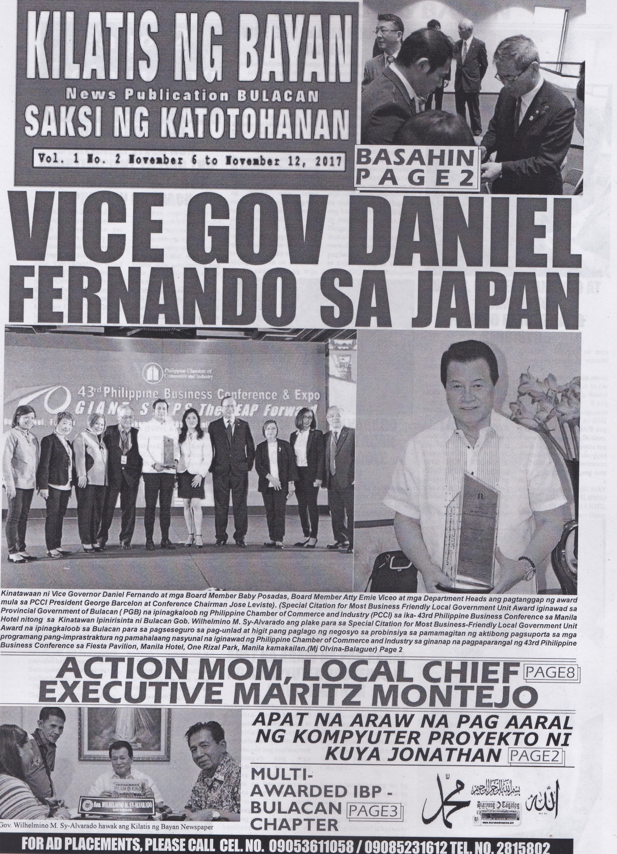 KILATIS ng bayan news publication second issue 110211122017