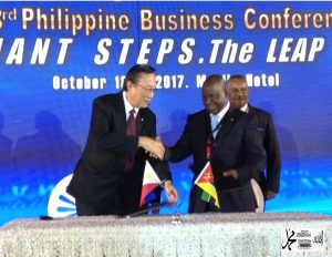 MOZAMBIQUE CHAMBER OF COMMERCE PRESIDENT SIGNED A MOA WITH PH