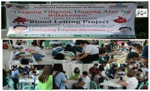 Damayang Filipino Blood Letting Serviced More or Less 150 Individuals