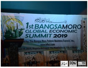 BANGSAMORO GLOBAL ECONOMIC SUMMIT 2019 GINANAP