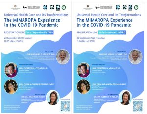 DOST MIMAROPA WEBINAR ON COVID-19 EXPERIENCE IN REGARD TO UNIVERSAL HEALTH