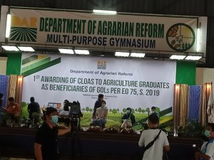 1st Awarding of CLOAS  to agriculture graduates