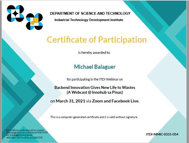 ITDI backend innovation Michael