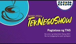 POSITIBONG PAGTATASA SA TNS NG ITDI, PROGRAMA DAPAT IPAGPATULOY